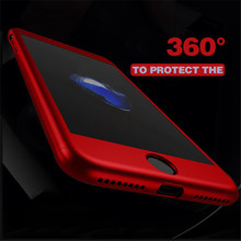 GVU 360 Case For iPhone 6 6s 7 Plus Case Shockproof Slim Cover Full Degree Protective Tempered Glass For iPhone 5 5s 8 8 Plus(China)
