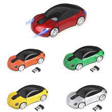 2.4GHZ 1600DPI Wireless Mouse USB Receiver Light LED Super Porsche Car Shape Optical Mice Battery Powered(not included) C26(China)