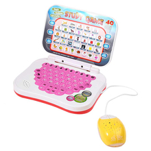Kids Mini E-school PC Learning Machine Computer Educational Game Toy with Mouse Electronic Notebook Kids Study(China)