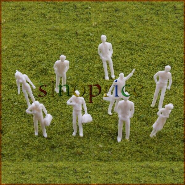 100pcs White Unpainted Architectural 1:75 Scale OO Gauge Model Figure<br><br>Aliexpress