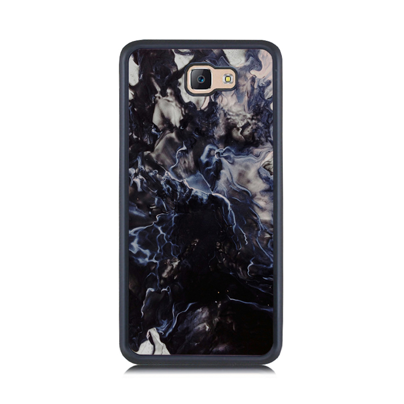 Black Ice Cream Painting Cover for Samsung J3 2016 Marble Stone Pattern Rubber & PC Phone Case for Galaxy J5 J7 Prime J5 J7 2016(China)