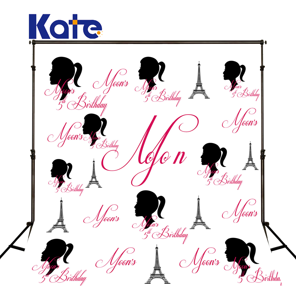 Kate White Birthday Fundo Fotografico Para Estudio Newborn Princess Girl Background Custom Party Background Photo<br>