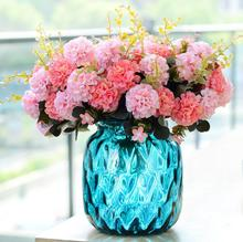 10 Heads Artificial silk Flowers pom pon pom Chrysanthemum flores for autumn home party decoration fake Flower branch wreaths(China)