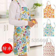 1 Pieces Lytwtw's Fashion Cute Floral Waterproof Cooking Resturant Kitchen Women Lady Home Apron New(China)