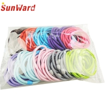 Amazing  Girl Children Elastic Hair Band Accessory Black Plus Velvet Hair Rope Headband Mix Candy Color