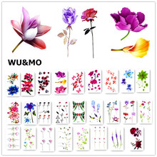 Colorful Flower Body Art Sexy Harajuku Waterproof Temporary Tattoo For Man Woman Henna Fake Flash Tattoo Stickers