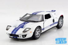 1PC 12.5cm Wisdom alloy crown 1:36 Ford 2006 Ford GT model car toys gifts