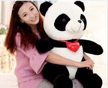 big plush panda toy lovely red heart panda doll gift about 70cm 0367(China)