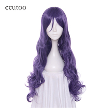 ccutoo 32inch/80cm LoveLive! White Valentine's Day Nozomi Tojo Purple Synthetic Wavy Long Cosplay Wig Heat Resistance Hair(China)