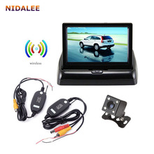 Car Rear View Backup Camera + Wireless Signal Transceiver + 4.3' LCD Display Car Monitor & Whole Set Wireless Parking System