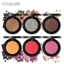 FOCALLURE Professional Diamond Eye Shadow Palette Make Up Waterproof Shimmer Eyeshadow Pigment with Brush Makeup Cosmetics RP(China)