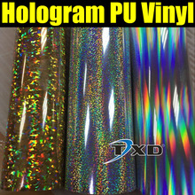 50CMX100CM High quality Hologram PU VINYL for fabric heat transfer with air free shipping