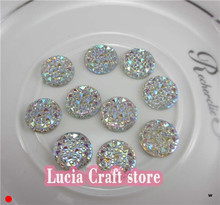 48pcs 8mm Clear Acrylic Resin Flat Back Round Sew On Rhinestone 2 holes Sewing Beads for Wedding Dress 080002085