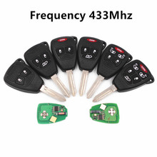 CE0888 433MHZ for DODGE Avenger Nitro Caliber Charger Magnum Ram 1500 2500 3500 Grand Caravan Car Alarm Fob Remote Key