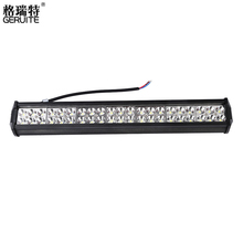 2017 126W led bar offroad Car Led Light Bar Work Driving Boat Car Truck Led Light Spot Flood Combo led lightbars 4X4 4WD ATV(China)