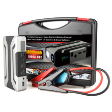 18000mAh 1000A Peak Current Car Portable Emergency Jump Starter & Battery Charger with Jump Lead 60C Discharge Rate