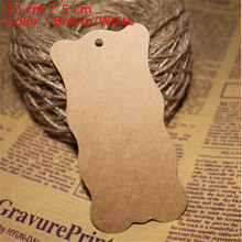 10 cm * 5 cm DIY retro kraft wave edge garment tags retro craft paper 200 pcs/lot