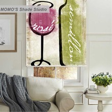 MOMO Thermal Insulated Blackout Fabric Custom Green Window Curtains Roller Shades Blinds,PRB set86-88