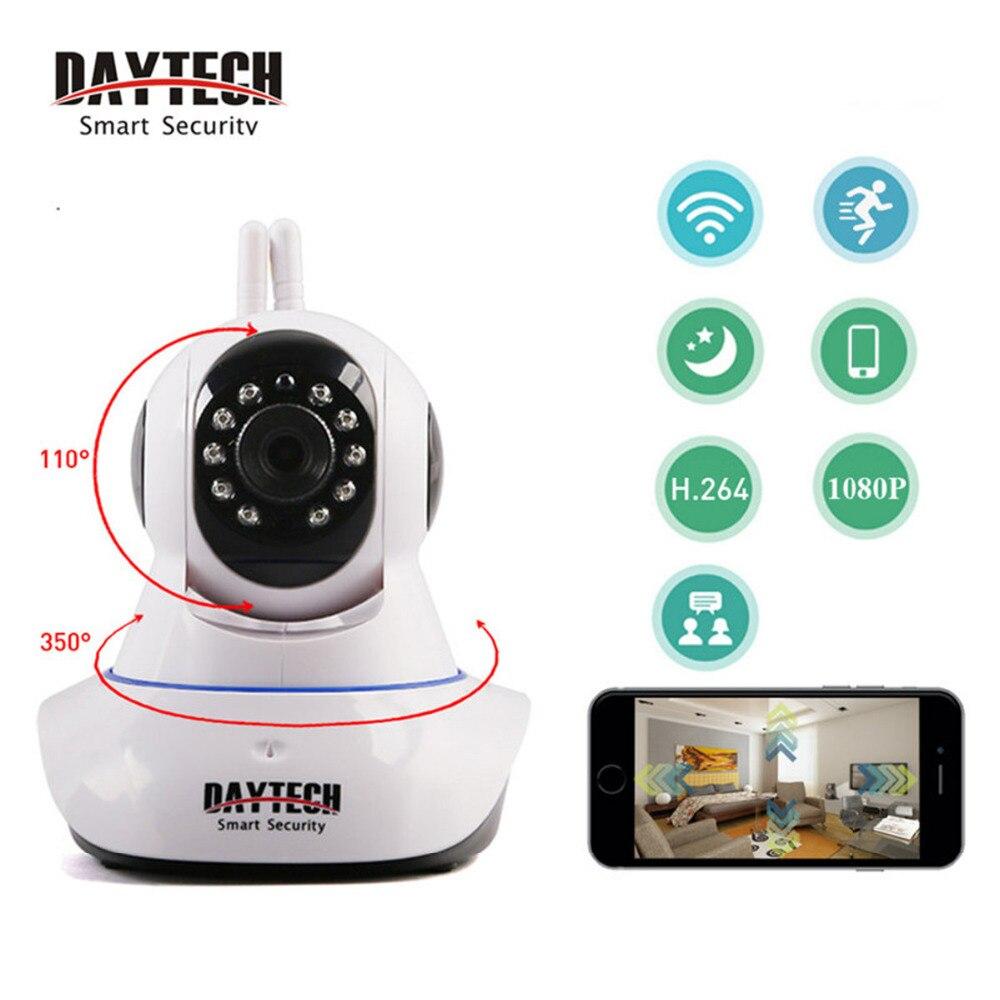 DAYTECH 1080P IP Camera Wi-Fi 2MP Wireless Surveillance Camera WiFi P2P Security CCTV Network Baby Monitor Two Way Intercom IR  <br>
