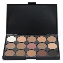 Professional Women Facial Makeup Cosmetic Eyeshadow Palette 15 Colors Smoky Natural Long Lasting Eyeshadow Palette Top Quality(China)