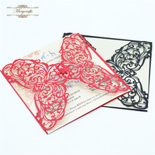 Merry christmas best seller ideal products square black and Chinese red   wedding invitation  cards
