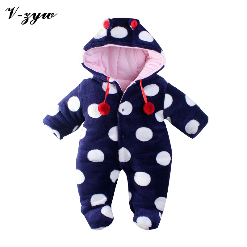 Baby-clothes winter rompers winter newborn Animal shapes thick cotton baby snowsuit baby overalls winter for newborn jumpsuit<br><br>Aliexpress