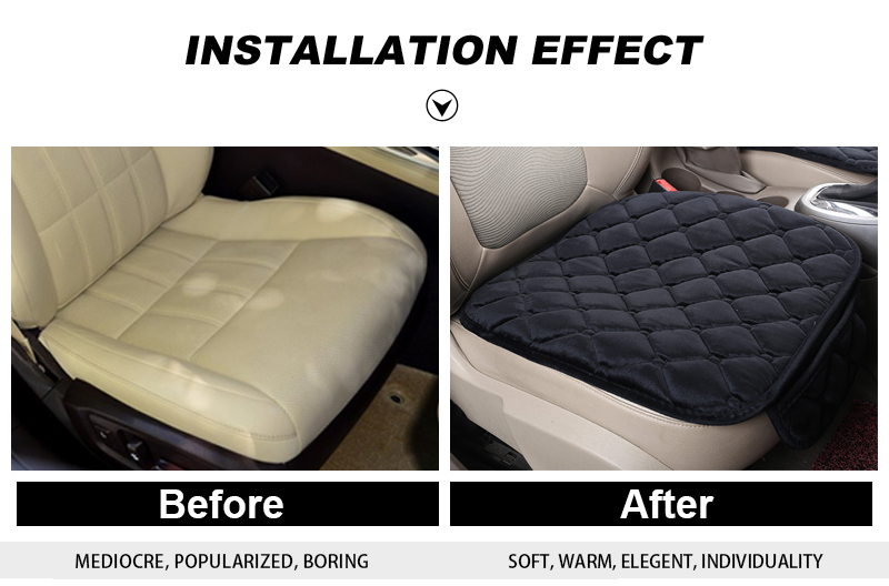 For KIA RIO Cerato Sportage QL Car Seat Cover Universal Auto Winter Soft Warm Seats Cushion Cars Chair Covers Protector General (3)