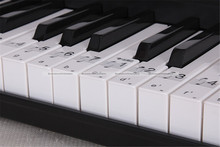 Music Keyboard Piano Note Clear Stickers 52 Labels Set For 88 61 54 Keys 71515001 JDS(China)
