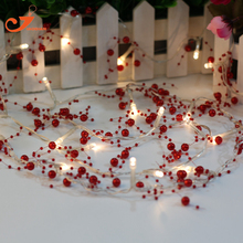 bead garland LED string lights  red  lighting party  wedding  lamp garden home lumieres luces lampere holiday leisure  luz