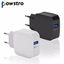 Powstro Quick Charge 3.0 USB Charger QC 3.0 charger wall universal mobile phone fast charger usb adapter for iphone samsug LG
