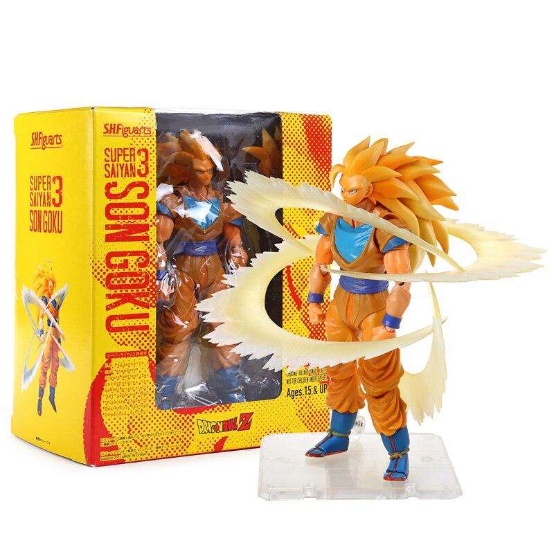 Anime Dragon Ball Z Super Saiyan 3 Son Goku PVC Action Figure Collection Toy 6 14CM <br>