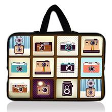 "13"" Cameras print Neoprene Soft Laptop Sleeve Bag Case Cover +Hide Handle For MacBook Pro 13.3 Inch for Acer Aspire S3 S7"