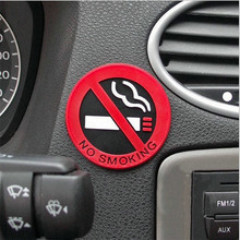 3Pcs Rubber NO SMOKING Sign Tips Warning Logo Stickers Car Taxi Door Decal Badge Glue Sticker Promotion High Quality Hot Selling
