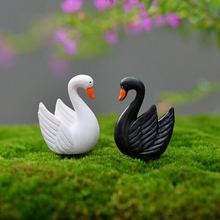 2Pc Artificial Mini Goose Animals Fairy Garden Miniatures Gnomes Terrariums Resin Craft Figurines Home Decoration Accessories