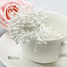3mm (1700pcs/lot) Artificial Pearl Flower Stamen Pistil Double Tip Pearlized Craft Cards Wedding Cakes Decoration 5HD021-1