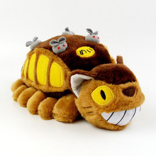 Creative Luminous Cartoon Animation Totoro Bus Plush Toy Totoro Stuffed Doll Soft Plush Doll Kids Children's Gift