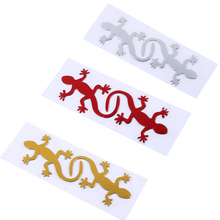3 Colors Gecko Lizard Sticker Decoration Waterproof Universal Soft Glue Paste Tags Sticker Car Styling Motorcycle Sticker Decals
