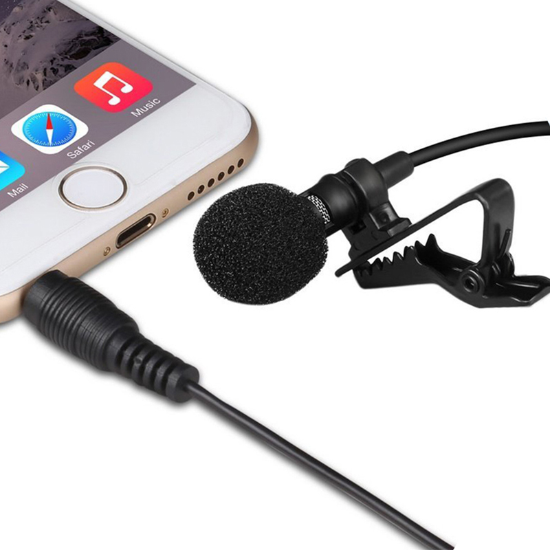 Professional Mini Metal Collar Clip Microphone Recording Karaoke Skype VOIP Small Mic for Mobile Phone Iphone Samsung Xiaomi PC(China)