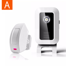 Welcome Chime Wireless Device PIR Motion Sensor Bell Alarm Entry Wireless Door Alarm(China)