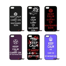 For iPod Touch iPhone 4 4S 5 5S 5C SE 6 6S 7 Plus Samung Galaxy A3 A5 J3 J5 J7 2016 2017 Keep Calm Carry On My Wayward Son Case