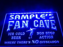 DZ068- Name Personalized Custom Bar Soccer Football Fan Cave Man Beer  LED Neon Light Sign