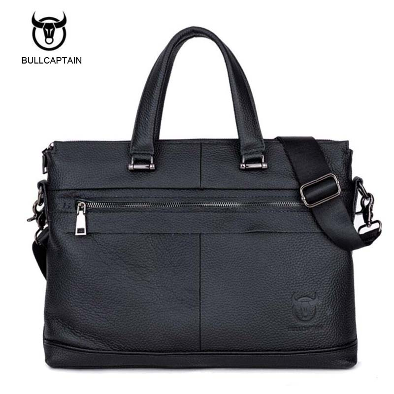 100% genuine leather men bag brand designed men laptop briefcase business bag cow leather men handbag shoulder bag messenger bag<br>