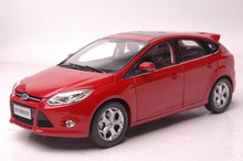 1:18 Diecast Model for Ford Focus 2012 Red Hatchback Alloy Toy Car Collection Gifts(China)