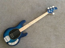 BEST 4 strings musicman bass guitar  sting ray5 Blue  color with maple fretboard Free shipping