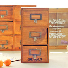 Retractable drawer type storage cabinet/Solid wood jewelry box cosmetic Desktop decoration storage box
