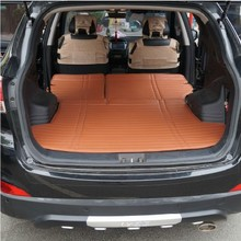 folding high class pu leather car trunk mats+ back seat pad for santafe SUV IX35 IX45 Tucson waterproof pad after the warehouse(China)