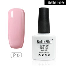 BELLE FILLE Romantic Pink colours UV nail varnishes gel manicure smalto semi permanente unghie nail art primer for bridal makeup(China)