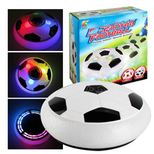 New! 1 pieces Air Power Soccer Ball Colorful Disc Indoor Football Toy Multi-surface Hovering and Gliding Toy New Hover Ball
