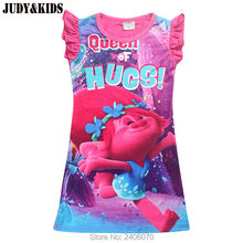 trolls clothes girls pajamas dress nightgowns children clothing summer baby girl dresses princess party dress kids costume