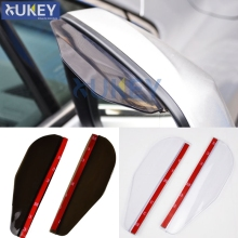 2X Car Door Side Rear View Wing Mirror Rain Visor Board Snow Guard Weather Shield Sun Shade Cover Rearview Universal Accessories(China)